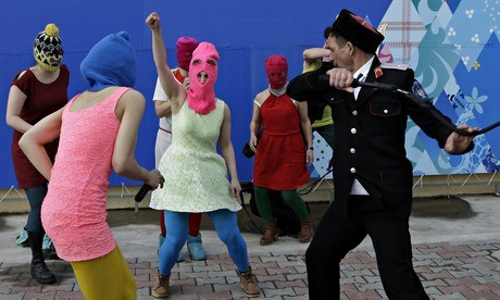 pussy riot attacked by cossacks in sochi russia